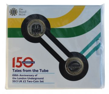 2013 £2 Tales From the Tube Brilliant Uncirculated pack